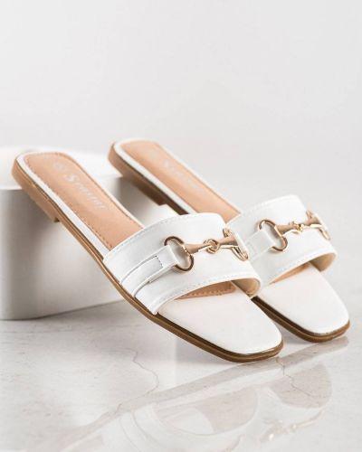 Białe złote klapki Seastar