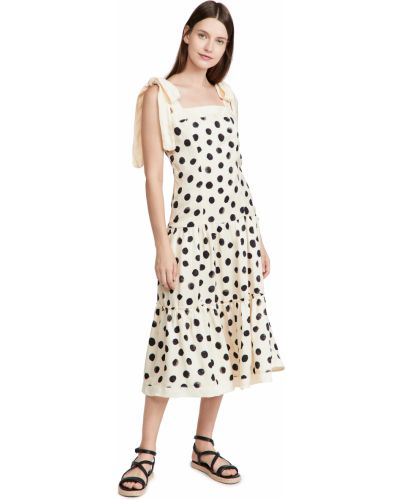 Платье миди - белое Agua Bendita