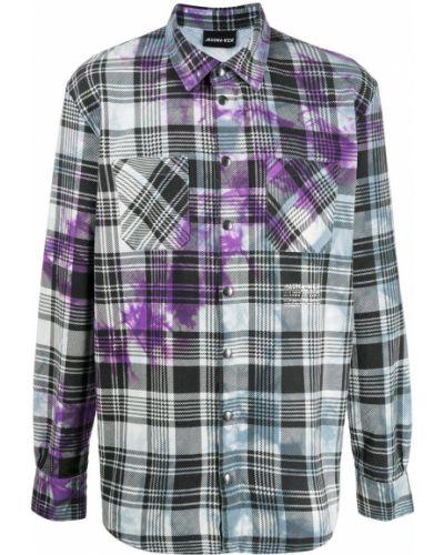 Фиолетовая прямая рубашка с воротником на кнопках Mauna Kea