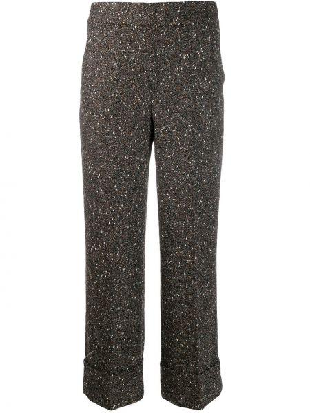 Укороченные брюки брюки-хулиганы дудочки Incotex