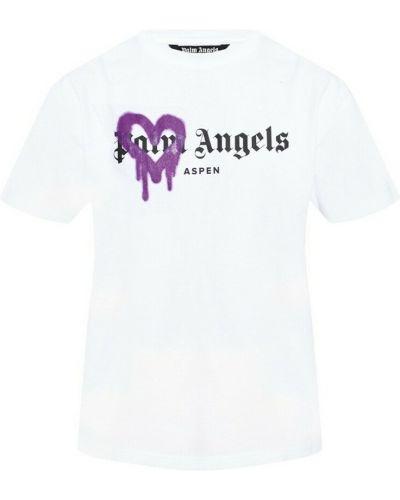T-shirt - biała Palm Angels