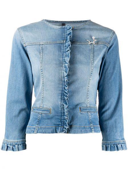 Джинсовая куртка укороченная с карманами Liu Jo