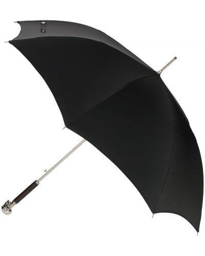 Czarny parasol srebrny Alexander Mcqueen
