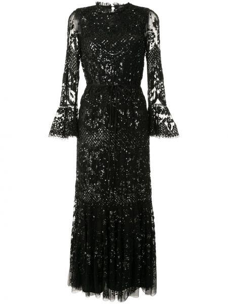 Вечернее платье с рукавами приталенное Needle & Thread