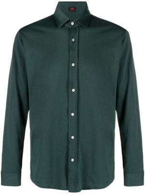 Zielona klasyczna koszula bawełniana z długimi rękawami Mp Massimo Piombo