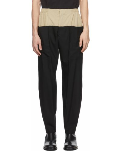 Czarne spodnie z wiskozy Vejas