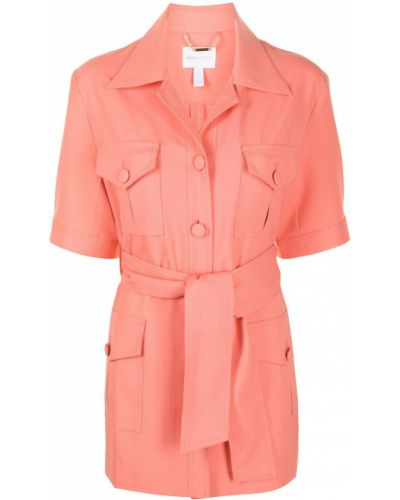 Розовый однобортный пиджак с короткими рукавами Alice Mccall