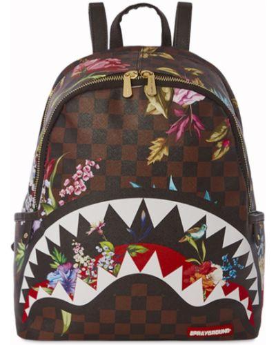 Рюкзак с принтом - коричневый Sprayground