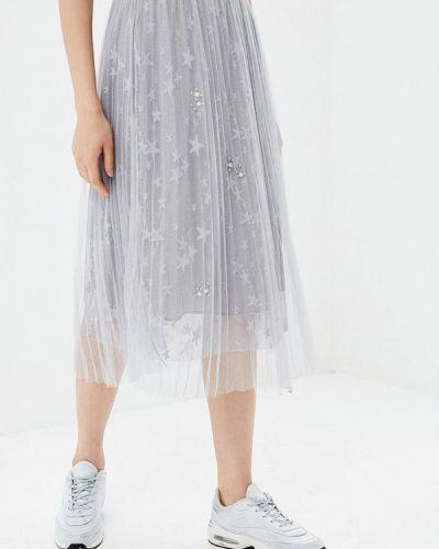 Плиссированная юбка серая Paccio