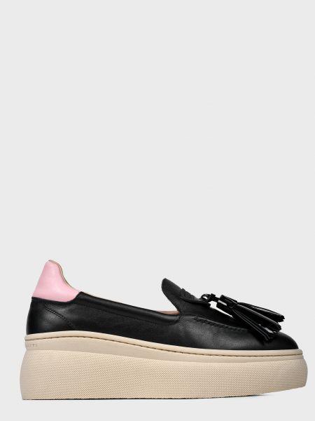 Кожаные туфли - черные Fratelli Rossetti