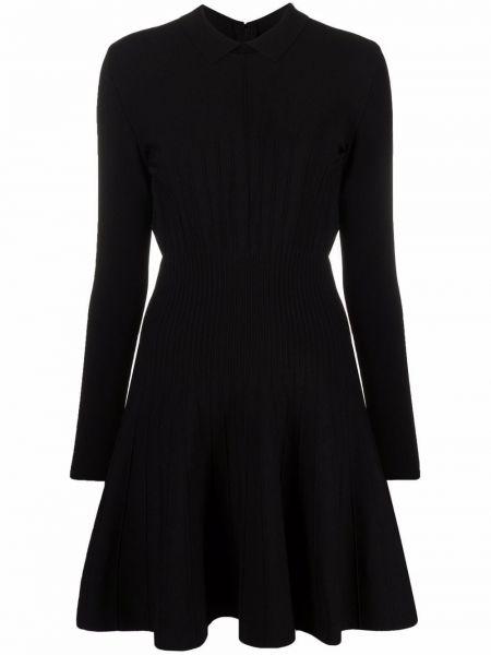 Платье миди расклешенное - черное Alberta Ferretti