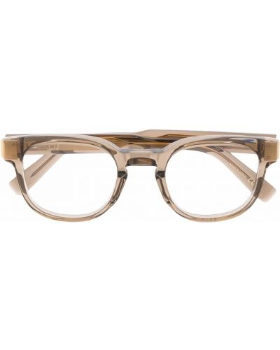 Brązowe okulary srebrne Dunhill
