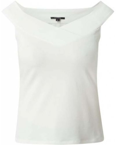 Biała bluzka bawełniana z wycięciami Comma