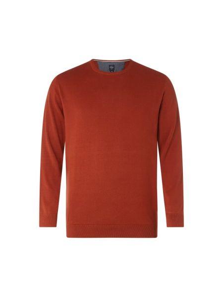 Prążkowany pomarańczowy sweter bawełniany S.oliver Plus