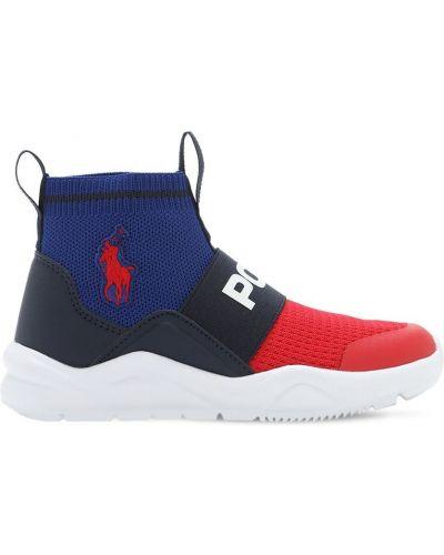 Sneakersy na gumce z haftem Ralph Lauren