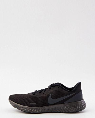 Черные текстильные низкие кроссовки Nike