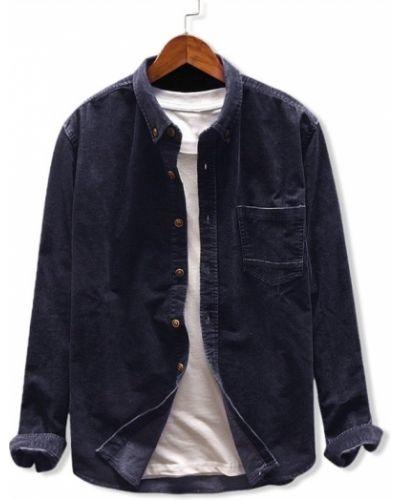 Рубашка вельветовая с карманами Zaful