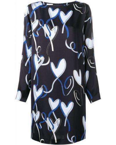 Платье макси длинное - синее Escada Sport