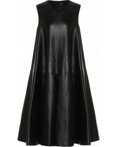 Кожаное платье - черное Loewe