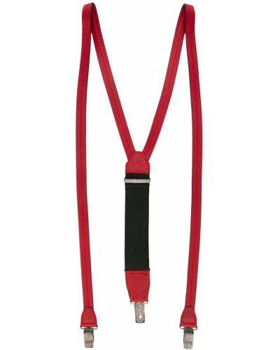 Красные кожаные подтяжки эластичные Gianfranco Ferre Pre-owned