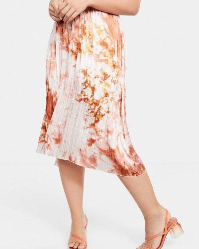 Плиссированная юбка красный фиолетовый Violeta By Mango
