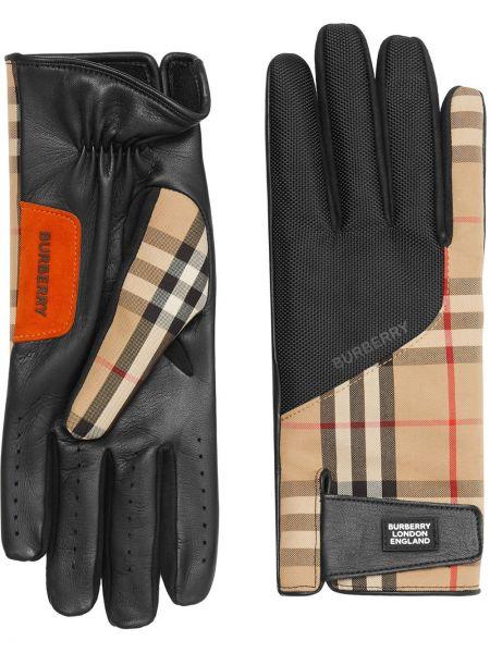 Rękawiczki skorzane vintage Burberry