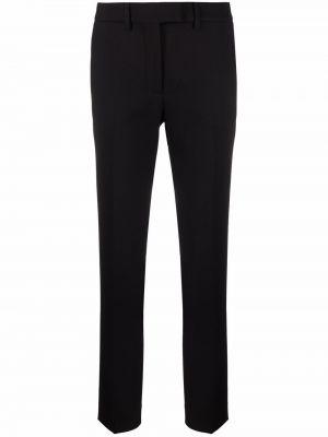Шерстяные брюки - черные Incotex