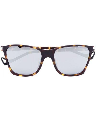 Солнцезащитные очки квадратные коричневый Satisfy