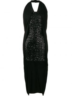 Платье с пайетками - черное Balmain