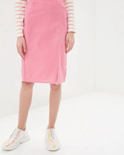 Розовая юбка карандаш с рукавом 3/4 Compania Fantastica