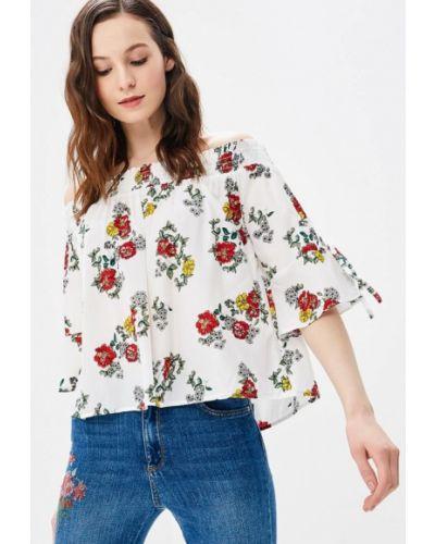 Блузка с открытыми плечами белая весенний Jennyfer