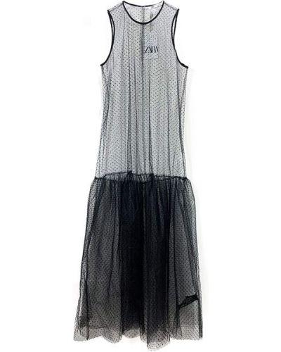 Черное платье без рукавов Zara