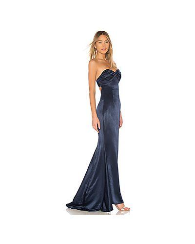 Вечернее платье с открытой спиной со складками Lovers + Friends