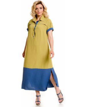 Летнее платье макси на пуговицах Novita