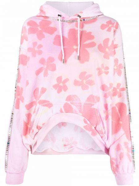 Bluza z nadrukiem z printem - różowa Collina Strada