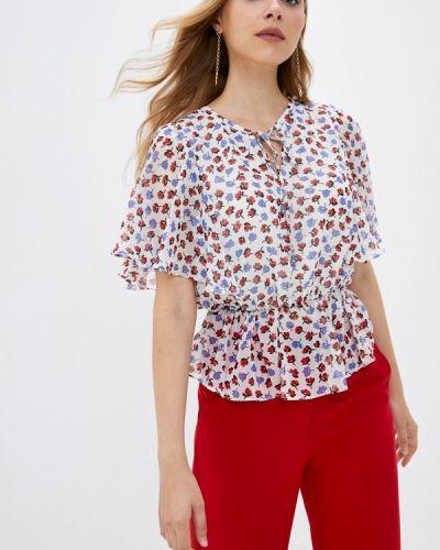 Белая блузка с оборками Lusio