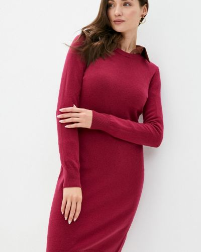 Красное вязаное платье United Colors Of Benetton