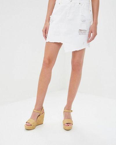 Джинсовая юбка белая турецкий Silvian Heach