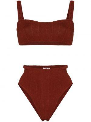 Brązowy bikini z nylonu Hunza G