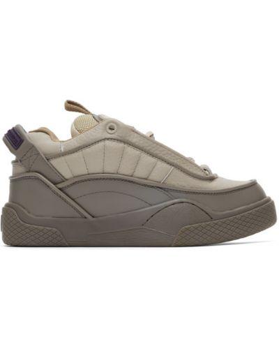 Кожаные кроссовки на каблуке на шнурках Eytys