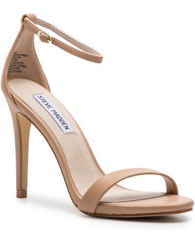 Sandały skórzane eleganckie - beżowe Steve Madden