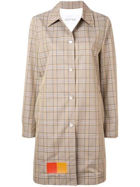 Пальто классическое с капюшоном с воротником Calvin Klein