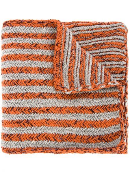 Терракотовый шарф 0711