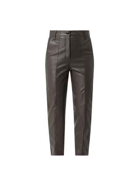 Beżowe spodnie bawełniane Luisa Cerano