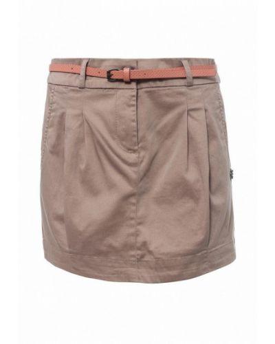 Бежевая юбка Oodji