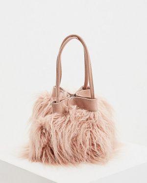 Кожаная сумка розовый итальянский Coccinelle