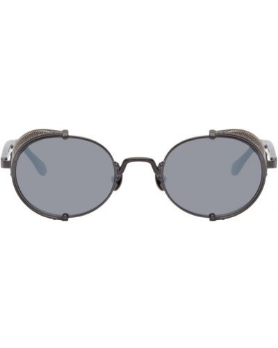 Czarne okulary srebrne Matsuda