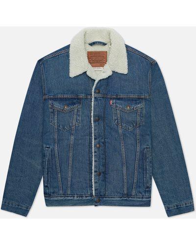 Синяя хлопковая куртка Levi's®