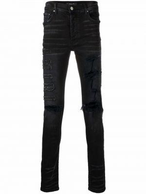 Черные облегающие зауженные джинсы Amiri