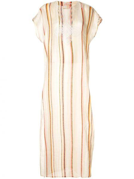 Платье мини макси в полоску Tory Burch